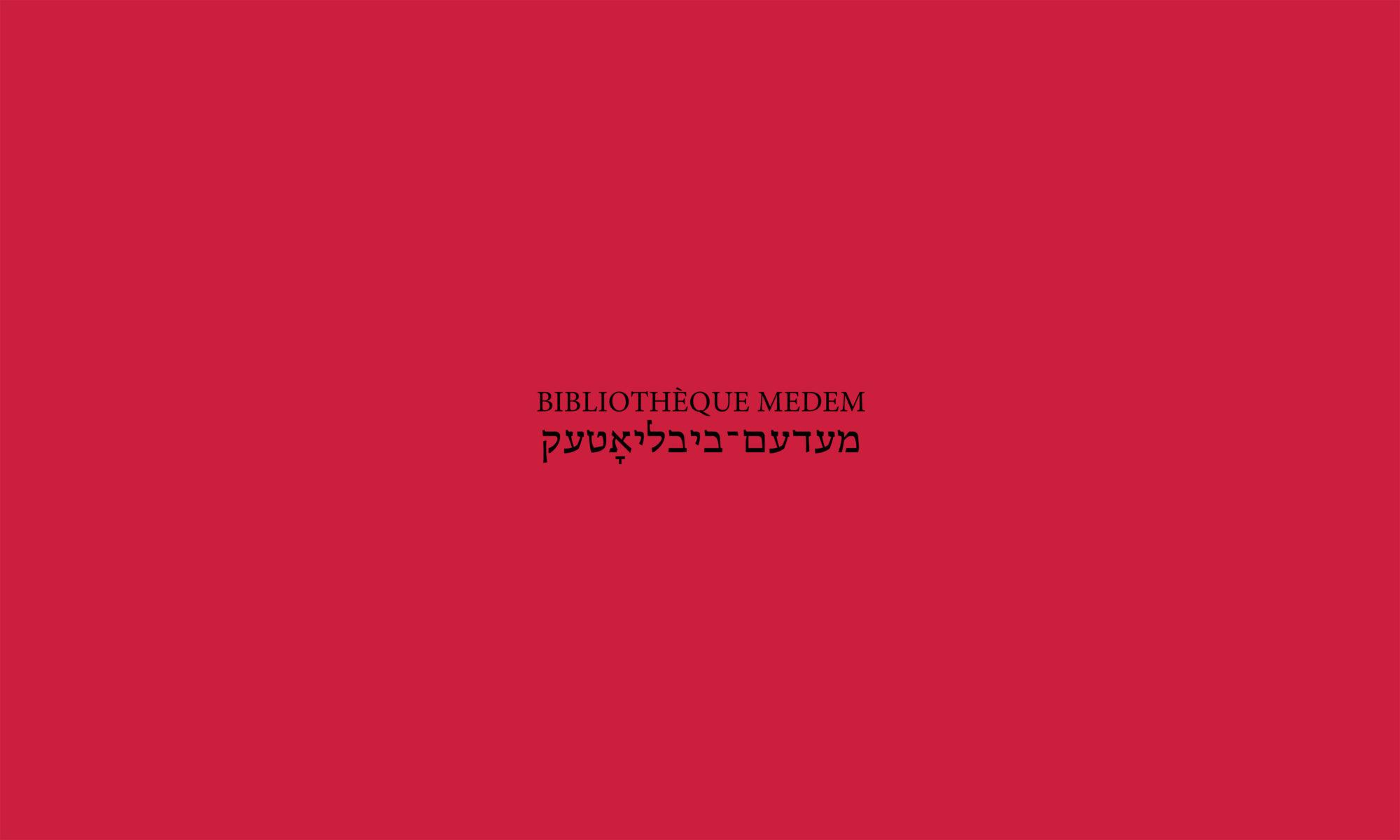 Éditions Bibliothèque Medem