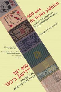 400 ans de livres yiddish - couverture